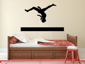 "Gymnastics Wall Decal - 27"" x 42"" Gymnast Silhouette Vinyl Decal - Gymnastics 8"