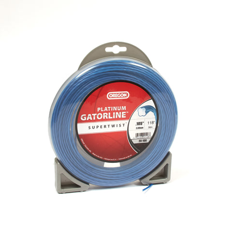 "Oregon 20-106 Trimmer Line: Supertwist Platinum Gatorline - 1/2lb (.105"" gauge - 118' donut)"