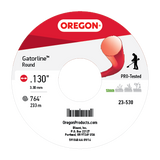Oregon 23-530 Trimmer Line: Round Gatorline