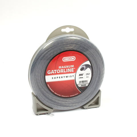 "Oregon 20-020 Trimmer Line: Supertwist Magnum Gatorline - 1lb (.095"" gauge - 280' donut)"