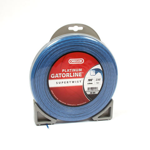 "Oregon 20-101 Trimmer Line: Supertwist Platinum Gatorline - 1lb (.105"" gauge - 236' donut)"
