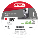 Oregon 69-191 .105 Gauge Magnum Gatorline, - Square