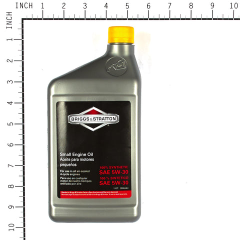 Briggs & Stratton 100074 5W30 Synthetic Engine Oil, 32 oz Bottle