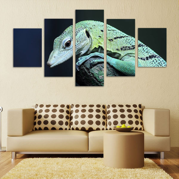 Green Tree Monitor Art - 5 Panel Canvas