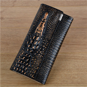 Alligator Print Wallet - Genuine Leather