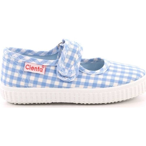 Sky Blue Gingham Toddler / Youth Girl Canvas Mary Jane