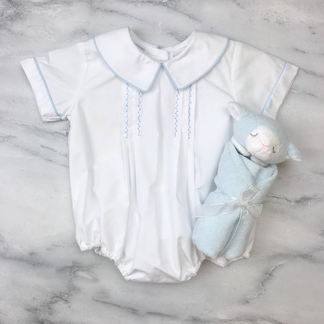 Petit Bebe Anthony Boys Bubble Light Blue Poplin