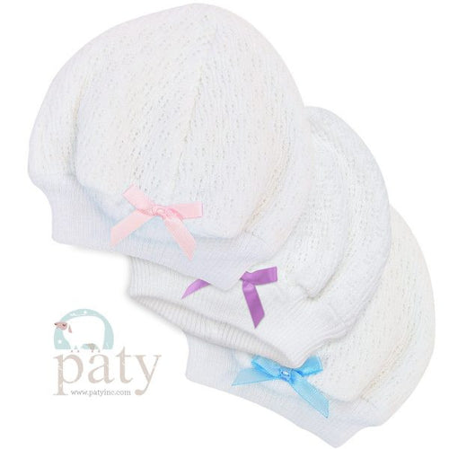 Paty Beanie Cap with Bow #105