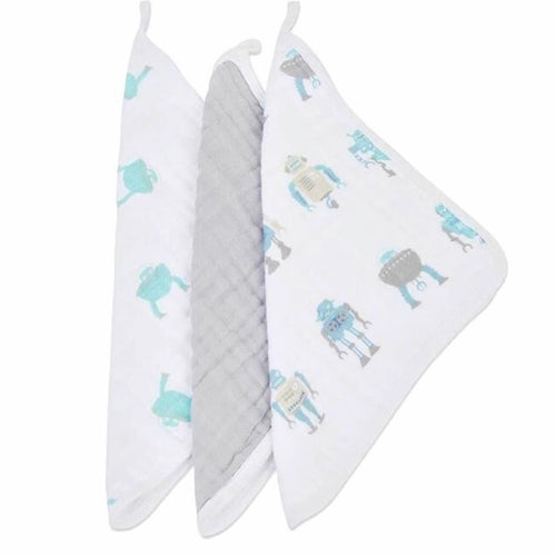 Robots Washcloth Set Of 3