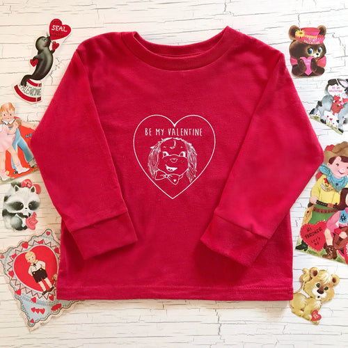 J + E Clothing Long Sleeved Vintage Valentine Puppy