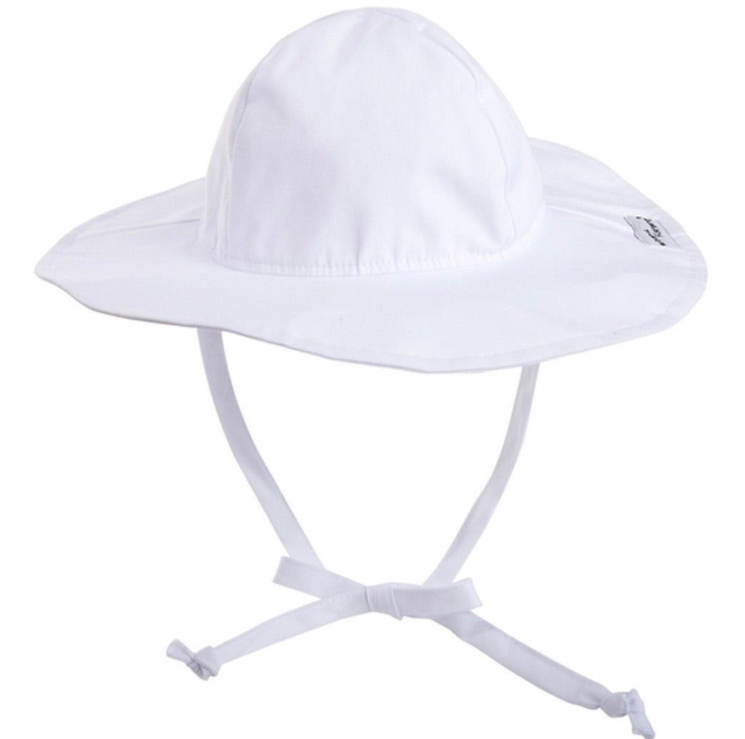 White Floppy Hat UPF 50 +