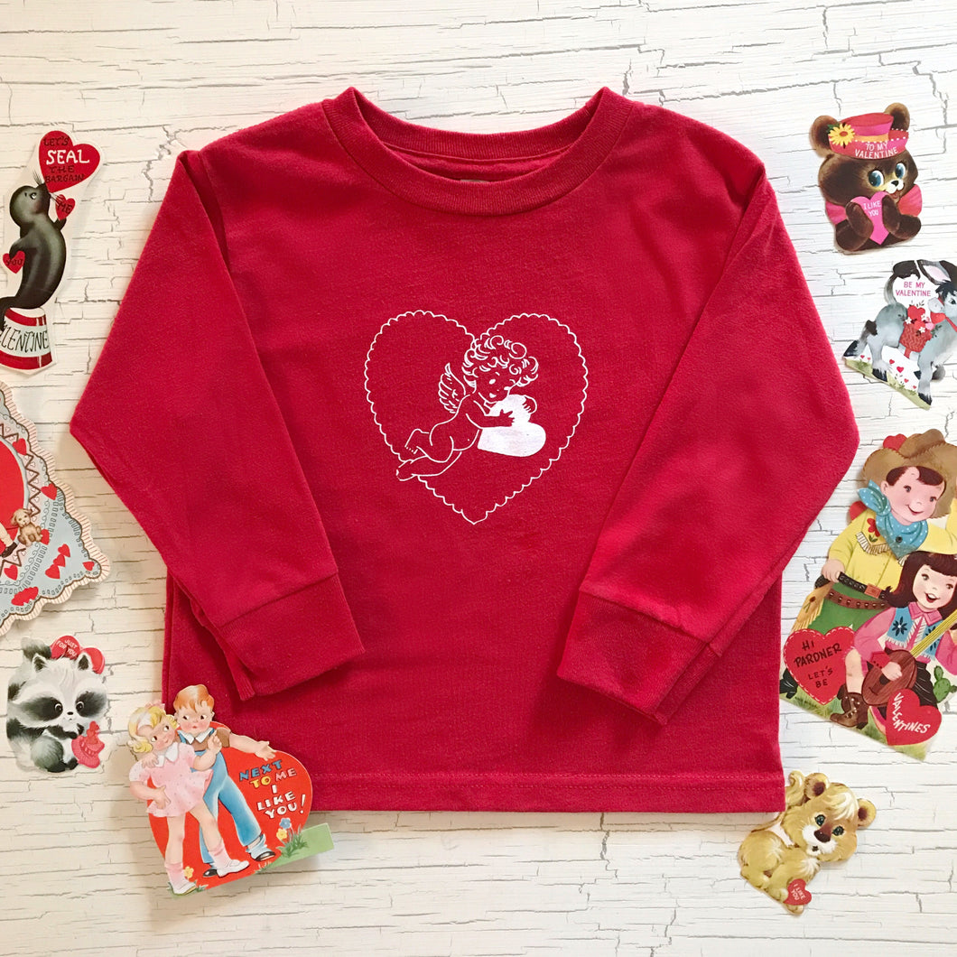 J + E Clothing Long Sleeved Vintage Valentine Cupid