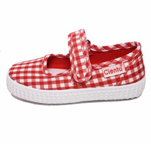 Red Gingham Toddler / Youth Girl Canvas Mary Jane