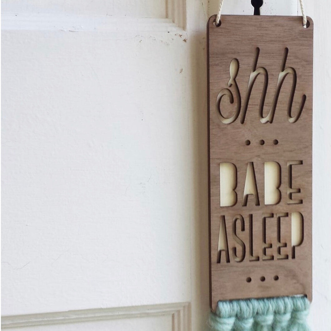Turquoise and Cream Door Sign
