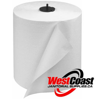 LARGE ROLL PAPER TOWEL HQ TORK H1, H2 TORKMATIC 290089 770 SHEETS X 6 ROLLS WHITE  1 PLY 4800'/CASE