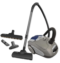 AIRSTREAM AS200 CORDED LIGHTWEIGHT CANISTER VACUUM WITH ACCESSORIES AND BRUSH COMPARTMENT