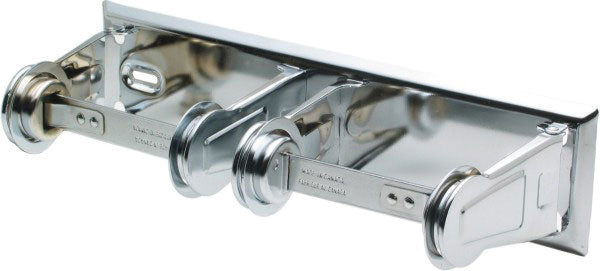 "FROST DOUBLE ROLL STANDARD TOILET PAPER DISPENSER F150 - CHROME - 4.25""X3.125""X12.675"""