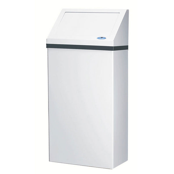 WALL RECEPTICLE STEEL WHITE FINISH FROST F303-NL W/ LID