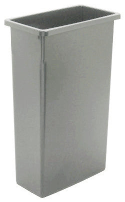 WALL RECEPTICLE CONTINENTAL WALL HUGGER 23 GALLON 8923 GREY