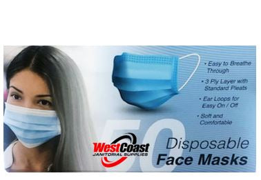 (NEW) 50 Pack Disposable Face Mask Safety for Personal Health, 3-Ply Ear Loop