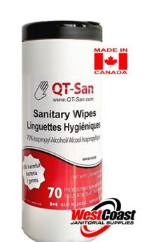 QT-Sanitary Wipes in a Canister Isopropyl Alcohol