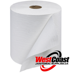 MEDIUM ROLL PAPER TOWEL PUR 600 FEET X 12 ROLLS WHITE  1 PLY 7200'/CASE
