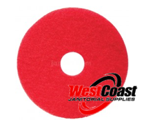 "RED PAD 12"" NIAGARA FLOOR PAD LOW SPEED WET/DRY 5/CASE"