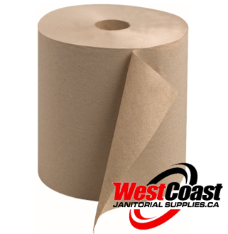 MEDIUM ROLL PAPER TOWEL PUR VALUE 600 FEET X 12 ROLLS X NATURAL  1 PLY 7200'/CASE