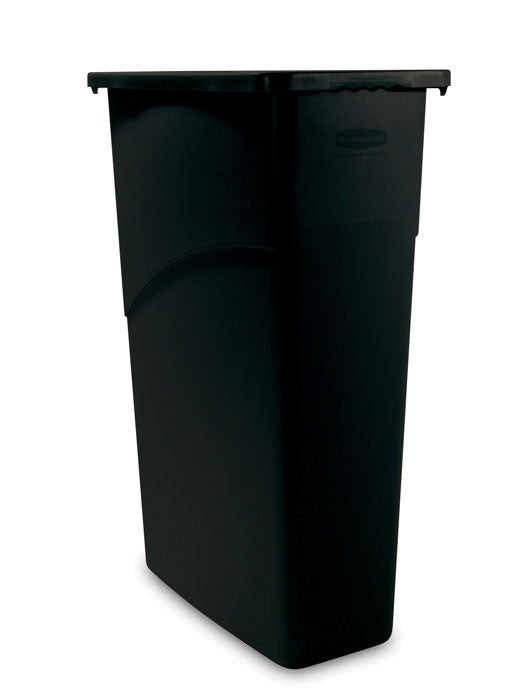 WALL RECEPTICLE RUBBERMAID SLIM JIM 23 GALLON 3540 BLACK