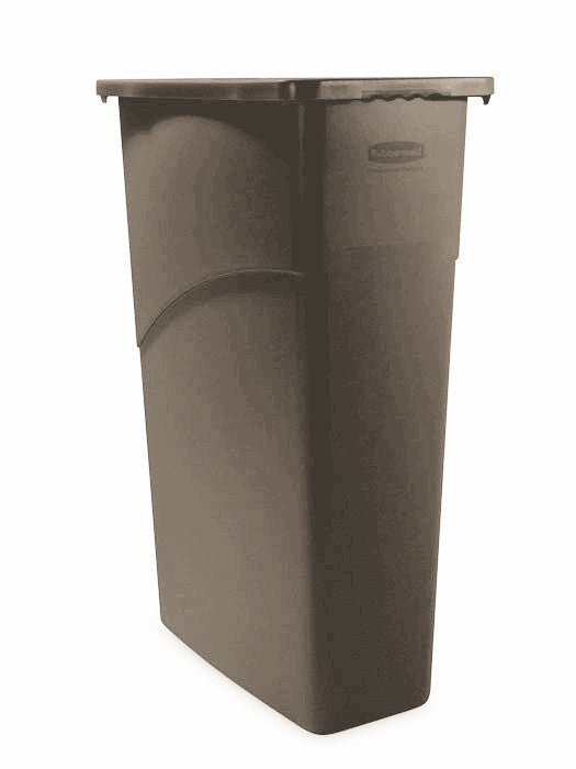 WALL RECEPTICLE RUBBERMAID SLIM JIM 23 GALLON 3540 BROWN