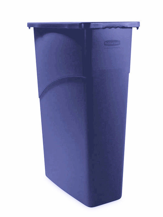 WALL RECEPTICLE RUBBERMAID SLIM JIM 23 GALLON 3540 BLUE