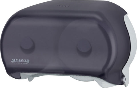 "SAN JAMAR DOUBLE JUMBO ROLL TOILET PAPER DISPENSER - 8.25"" X 12.25"" X 5.75"""