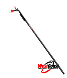 40' REACH 100% CARBON FIBER WINDOW CLEANING POLE IN STOCK