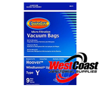 UPRIGHT HOOVER TEMPO VACUUM CLEANER BAGS TYPE Y 9 BAGS