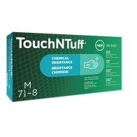 TOUCH N TUFF INDUSTRIAL CHEMICAL RESISTANT NITRILE GLOVES 100/CASE X - LARGE