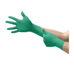 TOUCH N TUFF INDUSTRIAL CHEMICAL RESISTANT NITRILE GLOVES 100/CASE MEDIUM