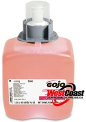 HAND SOAP REFILL GOJO FMX FOAM SOAP 1250ML LUXURY FOAM 5161-03