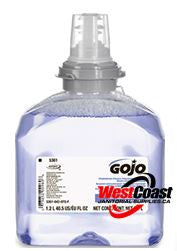 HAND SOAP REFILL GOJO TFX FOAM SOAP 1250ML LUXURY FOAM 5361 X 2 BOTTLES
