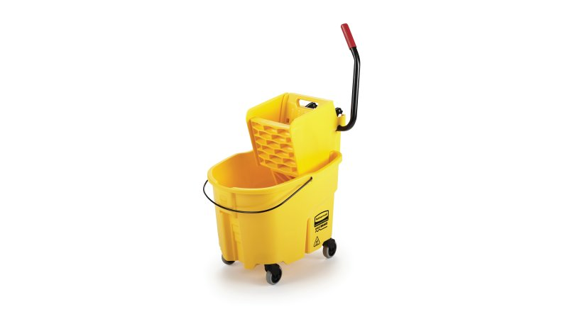 WAVEBRAKE® 35 QT SIDE-PRESS BUCKET AND WRINGER, YELLOW