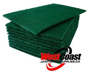 COMMERCIAL SCOURING PAD GREEN MEDIUM NO. 96 10 PACK