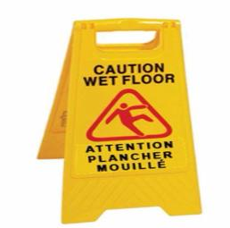 WET FLOOR SIGN (CAUTION WET FLOOR) 24""
