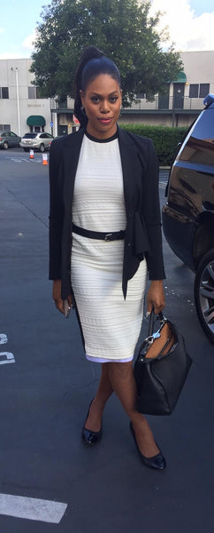 Laverne Cox wearing the Rosetta Belt