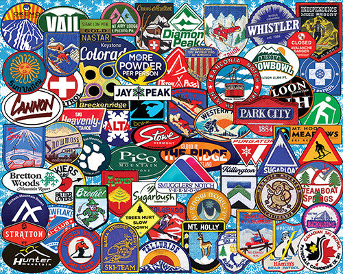 ski badges puzzle 1000 pc