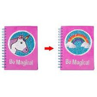 journal magic unicorn sequins