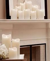 Electric Pillar Candle white 3 x 6
