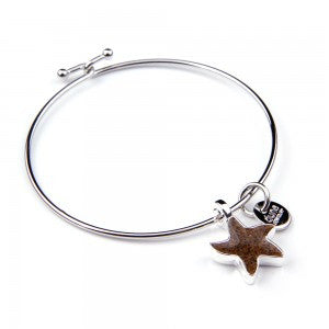 Dune Jewelry Starfish Bangle Bracelet
