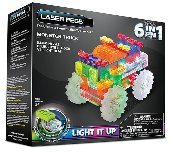 Laser Pegs Six in one Monster Truck