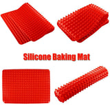 Pyramid Pan Non-Stick Silicone Mat for Baking without Fat (Video)