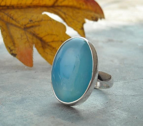 Adjustable Turquoise Ring Blue Lagoon