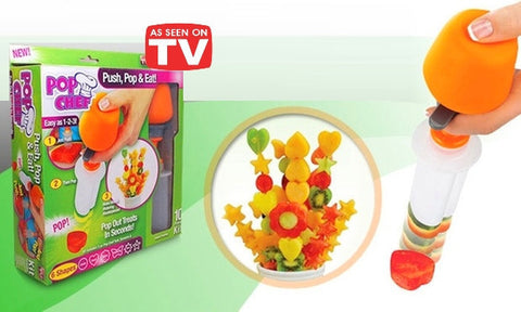 Pop Chef Set for Decorating and Cutting Food in Various Shapes (Video)
